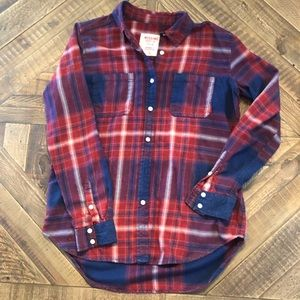 Blue and Red Plaid Flannel SZ M by Mossimo Supply